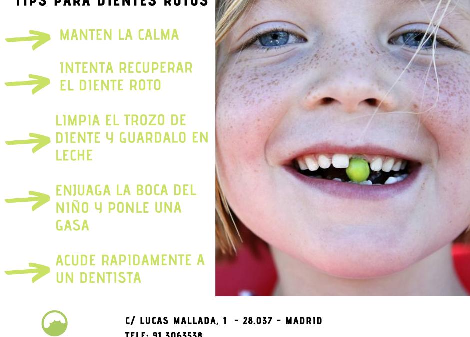 Que hacer si a tu hijo se le ha roto un diente